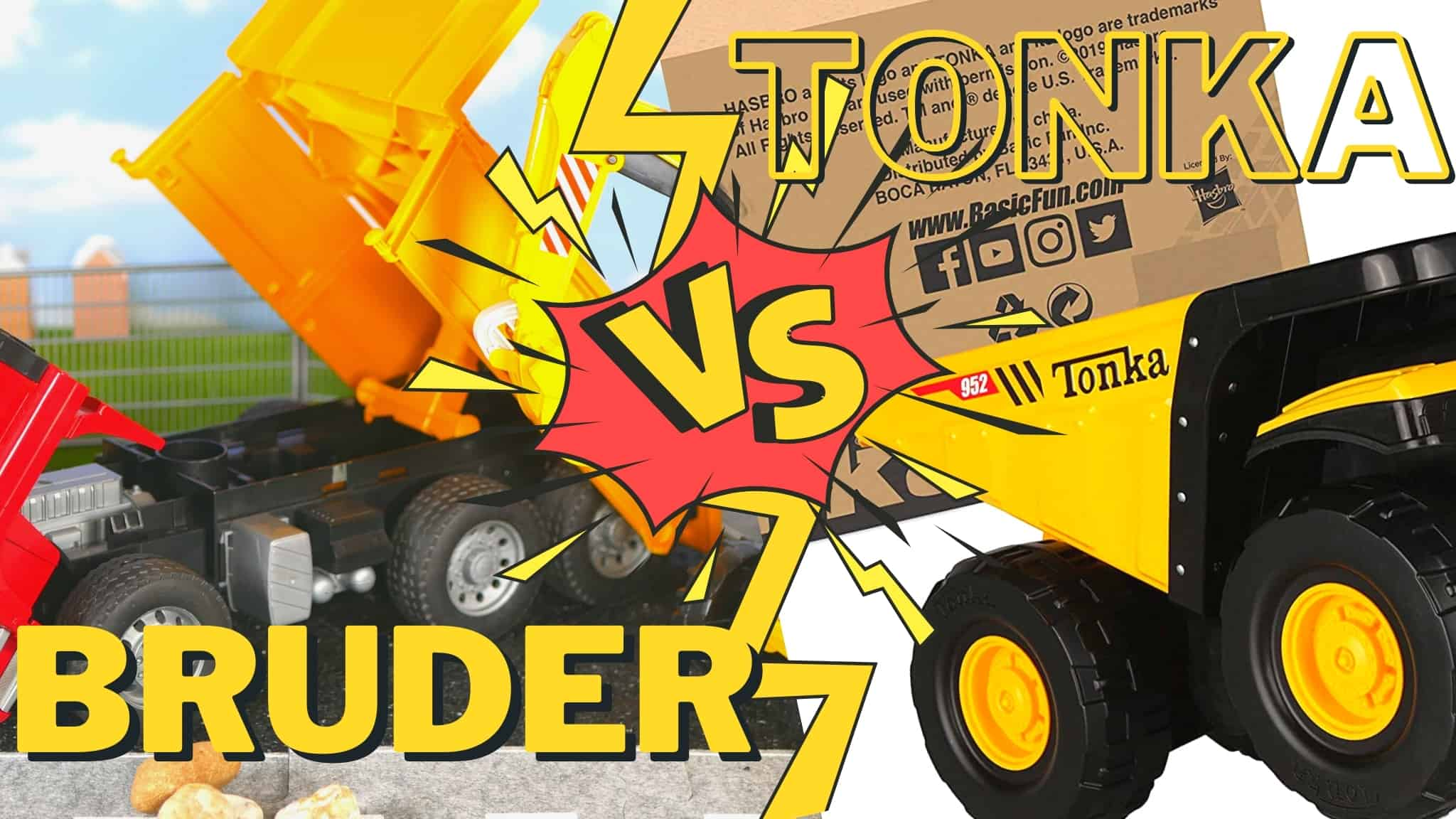 Bruder vs Tonka toys