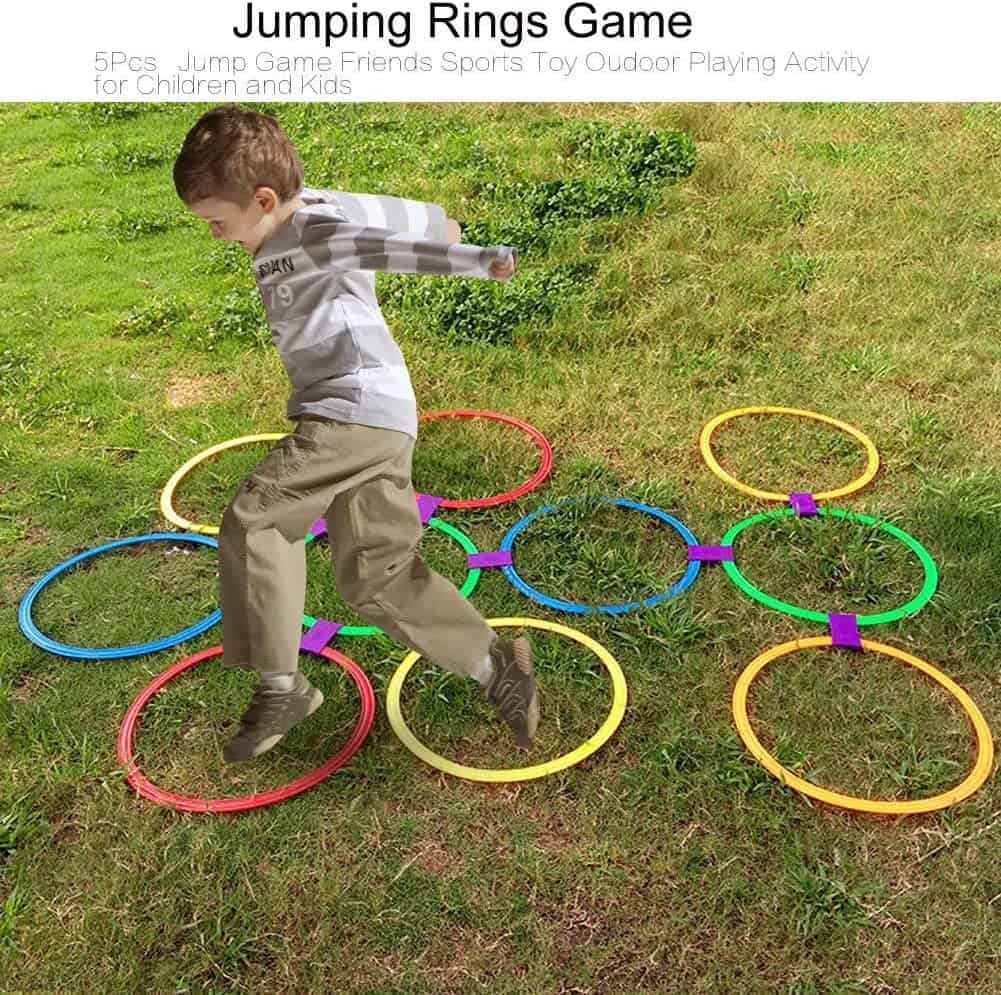 Jumping Rings hopscotch game