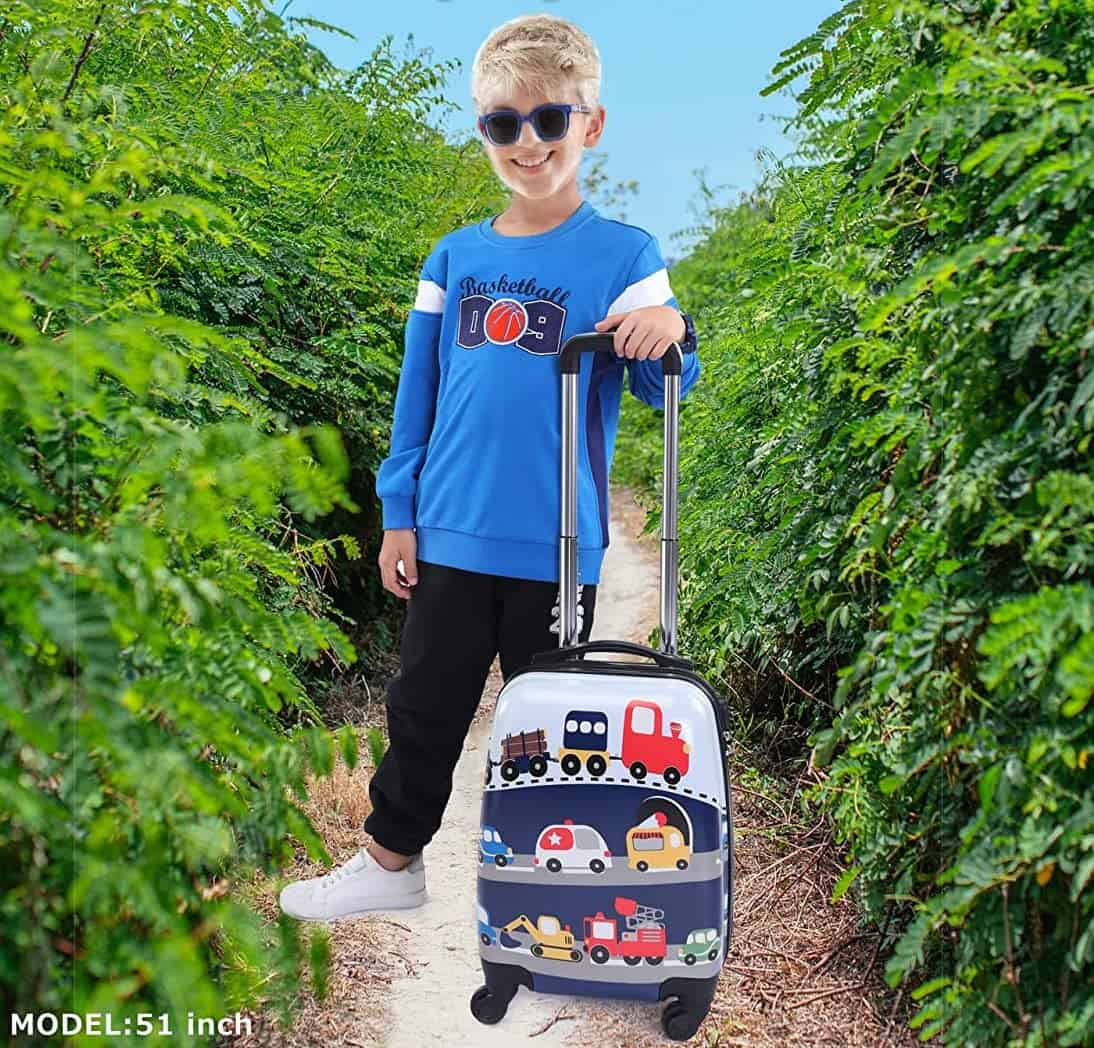 Nice children's suitcase for cool children from 5 years Lttxin