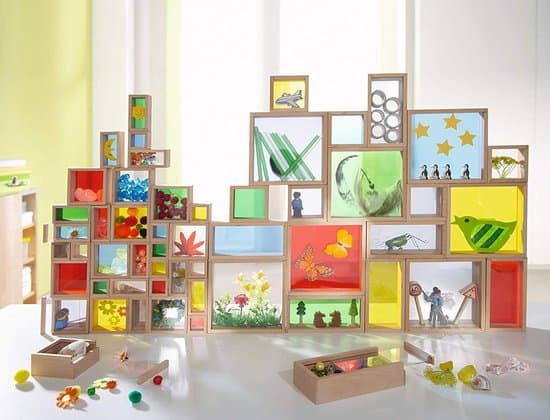 Best Haba building game - Building blocks with colored windows