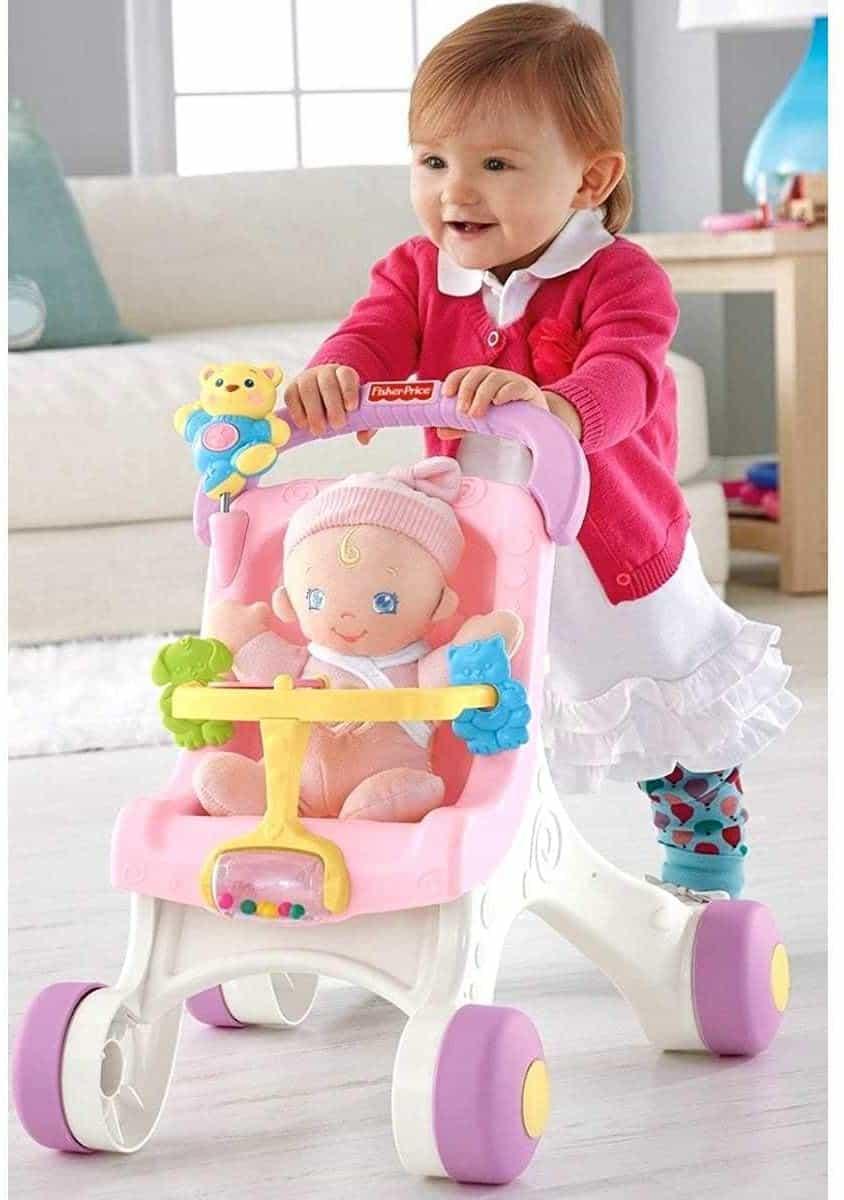 Primeros pasos del cochecito de muñecas más lindo - Fisher Price