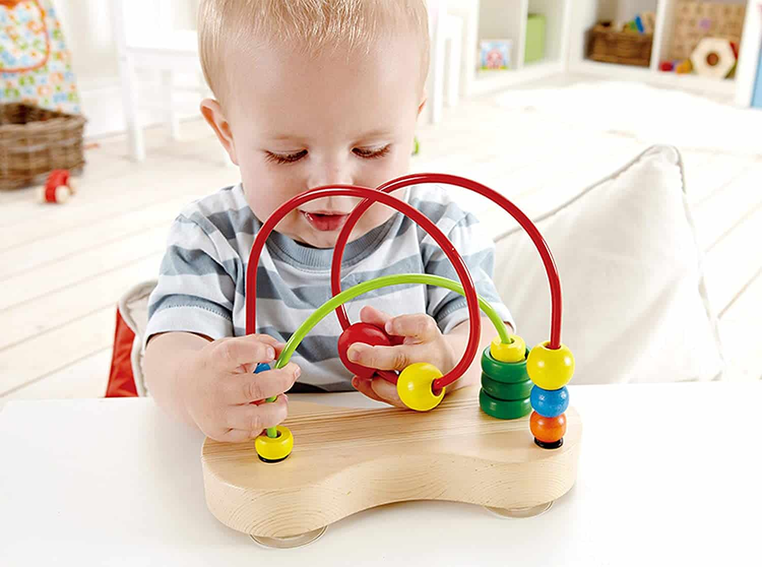 Best toys made of wood: Bead structure Double bubble