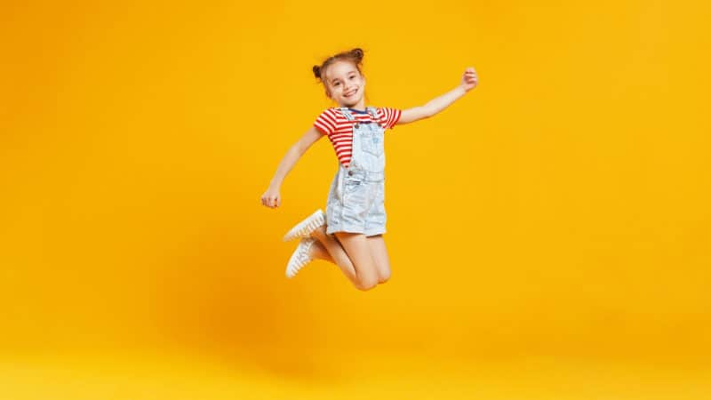 From what age can a child jump