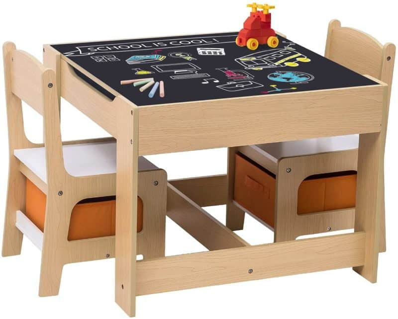 Beste speeltafel met krijtbord: Costzon Woltu kindertafel