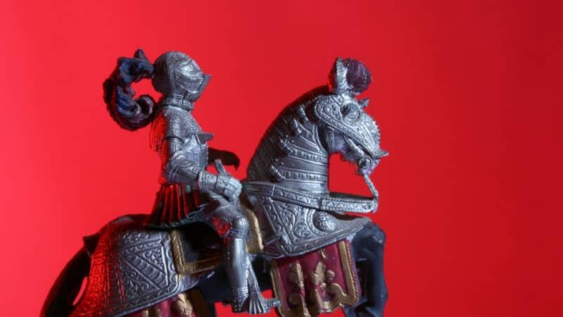 Speelgoed met ridders en kastelen