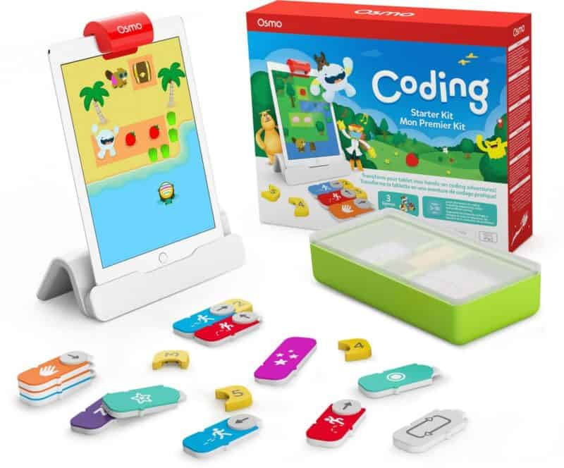 Osmo - Coding Starter Kit for iPad Plus Large Storage Case - 3 Educational Learning Games - Ages 5-10+ - Learn to Code, Coding Basics & Coding Puzzles - STEM Toy iPad Base Included